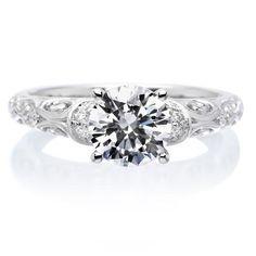18K White Gold Peyton Engagement Ring