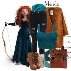 Merida - Fall - Disney Pixar's Brave by rubytyra on Polyvore featuring Mode, Element, Patagonia and Casetify
