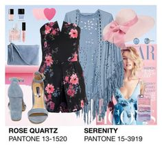 """""""Pantone Playsuit Floral"""" by designcat-colour ❤ liked on Polyvore featuring Sans Souci, Casetify, H&M, Lonna & Lilly, Jimmy Choo, Sephora Collection and Steve Madden"""