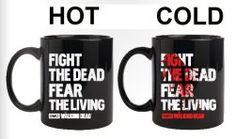 'The Walking Dead' Gift Guide - awesome #WalkingDead mug that turns colors depending on the temperature!