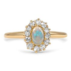 14K Yellow Gold The Dusti Ring from Brilliant Earth