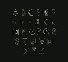 Alphabet self improvement writing fonts, fonts, art deco fon Alphabet Code, Alphabet Symbols, Hand Lettering Alphabet, Calligraphy Alphabet, Calligraphy Fonts, Typography Fonts, Alphabet Art, Typography Served, Alphabet Design