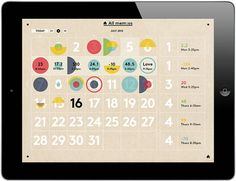mem:o - iPad App Provides Infographic Interface for the Quantified Self - information aesthetics