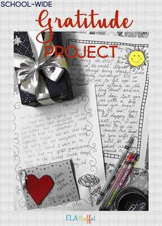 Do you want to cultivate happiness throughout your school community? Begin a gratitude project of yo Middle School Writing, Middle School Classroom, High School Students, School Community, Classroom Community, Respect Activities, Free Teaching Resources, Teaching Ideas, Teaching Writing