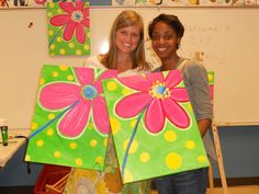 Loads of awesome canvas painting ideas...canvas painting party - now that's an idea!