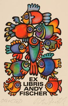 Ex libris by Peter Dietzsch for Andy Fischer