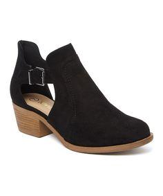 Look what I found on #zulily! Black Buckle Sofy Boot #zulilyfinds