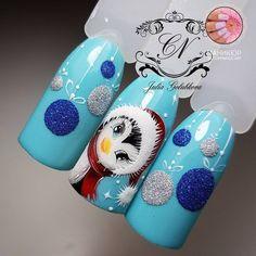 Make your nails beautiful with some snowflakes, stars or just simple red nail polish. Xmas Nail Art, Xmas Nails, New Year's Nails, Christmas Nail Art Designs, Winter Nail Art, Winter Nail Designs, 3d Nail Art, 3d Nails, Holiday Nails