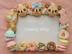 #スイーツデコ#フェイクスイーツ#粘土#食品サンプル#ミニチュア#スイーツ#フォトフレーム #sweetsdeco#fakesweets#clay#miniture#handmade#sweets#photoframe