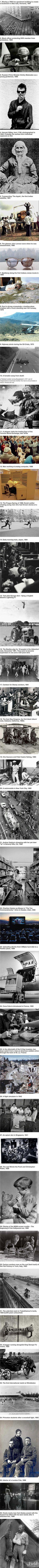 Beeindruckende historische Bilder