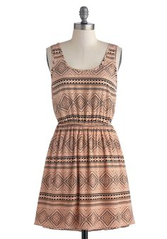 Cabin Chic Dress. Although your latest excursion has you bunking in a cabin each night, that doesnt mean your style has to take a vacation, too! #pink #modcloth