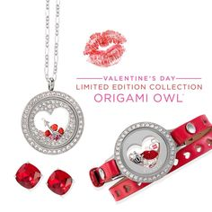 2018 Valentines collection from #origamiowl #charms are adorable come check them out by clicking on the photo! #love #valentinesday #red