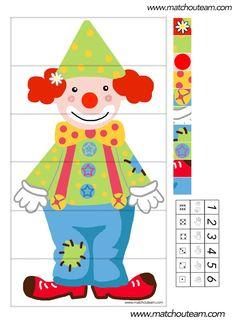 clowns puzzel - dobbelspel