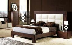 Camas de Madera Tapizadas : Modelo SHERATON REX Home Decor Furniture, Bedroom Furniture, Furniture Design, Bedroom Decor, Minimalist Bedroom, Modern Bedroom, Leather Bed Frame, Platform Bed Designs, Bedroom Closet Design