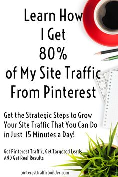 Are you struggling to reach more people in Pinterest? You're pinning your blog posts and no one is reacting. You're starting to wonder – does anyone see my pins when they log into Pinterest? Click to read more about how The Pinterest Traffic Builder steps can help you convert your Pinterest traffic into customers in just 15 minutes a day.