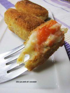 Bloc de cuina pa amb oli i xocolata: Croquetes de les verdures de l'escudella