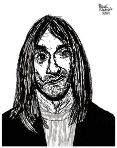 """Iggy Pop"", Tusche auf Papier / Ink on paper, 21 x 29,7 cm ..... イギー・ポップ Iggy Pop, Darth Vader, Portraits, Ink, Paper, Head Shots, India Ink, Portrait Photography, Portrait Paintings"