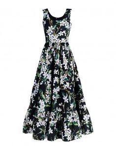 Dolce & Gabbana Zagara Floral Poplin Long Dress