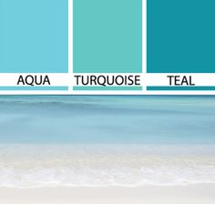 Coastal Seaside Color Schemes & Paint Color Ideas - Coastal Decor Ideas Interior Design DIY Shopping No matter what the color trend, we turn to the sea & shore when looking for room color schemes, decor palettes and paint color ideas. Turquoise Paint Colors, Coastal Paint Colors, Bedroom Turquoise, Turquoise Painting, Bedroom Paint Colors, Bedroom Color Schemes, Paint Colors For Home, House Colors, Teal Colors
