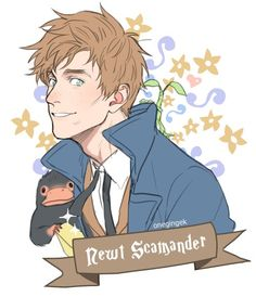 Who drew this amazing Newt Scamander? Fanart Harry Potter, Harry Potter Fandom, Harry Potter World, Harry Potter Memes, Slytherin, Hogwarts, Fantastic Beasts And Where, Harry Potter Universal, Fandoms