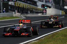 Kimi Raikkonen closes on Lewis Hamilton towards the end of the race | Formula 1 photos | ESPN F1