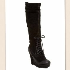 NEW Diesel Wedge Boot Never worn. 1/2 a size too big for me. I typically wear size 7.5/8. Took the risk and purchased them because I loved the style!!! No trades. Authentic Diesel Wedge. Diesel Shoes Wedges