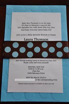 Laura's baby sprinkle invitation