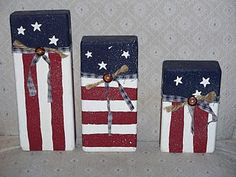 Flags - made from wood scraps.   (I thought they were bricks! lol)
