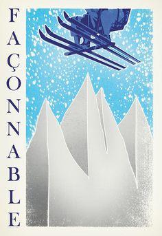 Faconnable ski poster