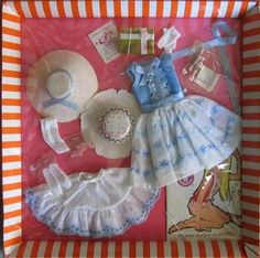 Skipper's Birthday Party outfit.  I love the packaging on vintage Barbie outfits!