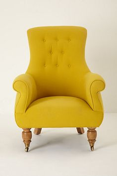 goldenrod reading chair. so full of style