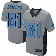 a91dc96e7 Calvin Johnson Jersey Men s Nike Detroit Lions  81 Limited Shadow Grey  Jersey