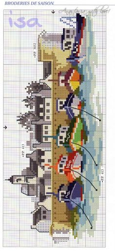 Thrilling Designing Your Own Cross Stitch Embroidery Patterns Ideas. Exhilarating Designing Your Own Cross Stitch Embroidery Patterns Ideas. Cross Stitch Sea, Cross Stitch House, Cross Stitch Charts, Cross Stitch Designs, Cross Stitch Patterns, Cross Stitching, Cross Stitch Embroidery, Embroidery Patterns, Cross Stitch Landscape