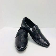 43ce363d934 Men s Amali Black Slip Ons Shoes Loafers Crackled Metallic US Sizes 8.5 -  12  Amali