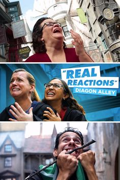 Authentic reactions of real Guests experiencing The Wizarding World of Harry Potter - Diagon Alley at Universal Orlando Resort. Universal Orlando Vacations, Universal Studios Florida, Orlando Resorts, Harry Potter Diagon Alley, Harry Potter Universal, Disney Land, Hogwarts, Flags, Islands