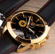 ● Style: Fashionable and casual,                                                   Auto Date, Complete Calendar, Water Resistant BADACE, quartz gold #watches for men, ✔️ BUY: US $42.87 /piece