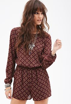 Abstract Tribal Print Romper | FOREVER21 - $28