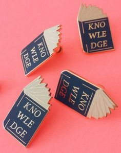 These pins are totally <i>lit</i>-erate.