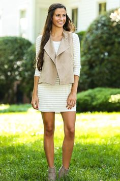 BB DAKOTA: Feel The Chill Vest-Tan - New Today   The Red Dress Boutique