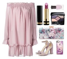 """""""Paradise in Purple"""" by im-karla-with-a-k ❤ liked on Polyvore featuring Alexander McQueen, Gucci, JustFab, Ted Baker, Christian Dior, Deborah Lippmann and Casetify"""