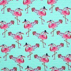 Kinderstoffen Jersey - Flamingo Mint