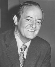 Hubert Humphrey (1911 - 1978) Served as vice-president of the United States from 1965-1969. Born in Wallace, Codington, SD