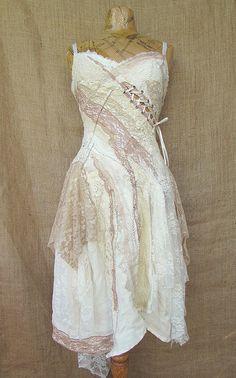 Dainty dusky dress by NaturallyBohemian on Etsy