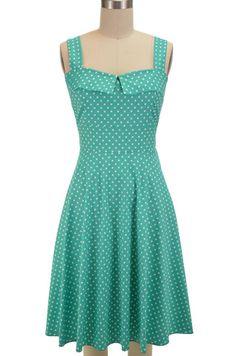 peggy sue sun dress - mint polka dot | le bomb shop