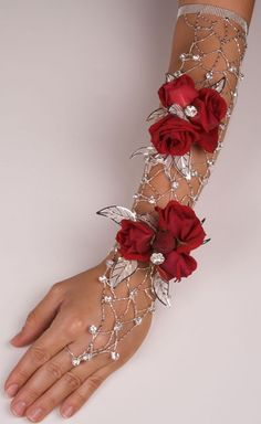 Wire and roses