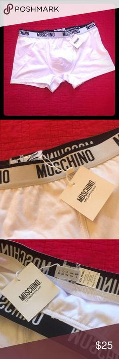 Moschino Men's Underwear, Size L New with tags, Men's Moschino underwear. Men's size L. For women, you can wear these as comfy shorts too :) Moschino Accessories