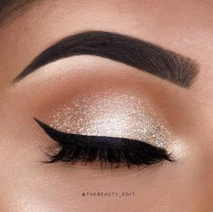 Sparkly nude eyeshadow and eyeliner SO BEAUTIFUL!!