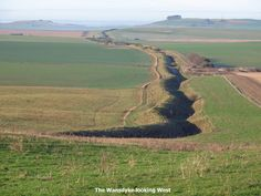 The Wansdyke looking west from Tan Hill