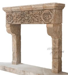Fireplace Surrounds, Fireplace Mantels, Fireplaces, Limestone Fireplace, Rustic French, Provence, Entryway Tables, Interiors, Antiques