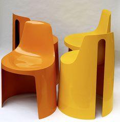 Plastolux plastic seats, 1970s